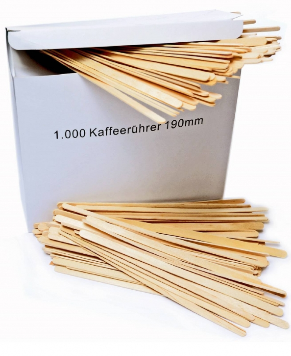 Rührstäbchen aus Birkenholz 1000 x 190 mm Natur-Rührer
