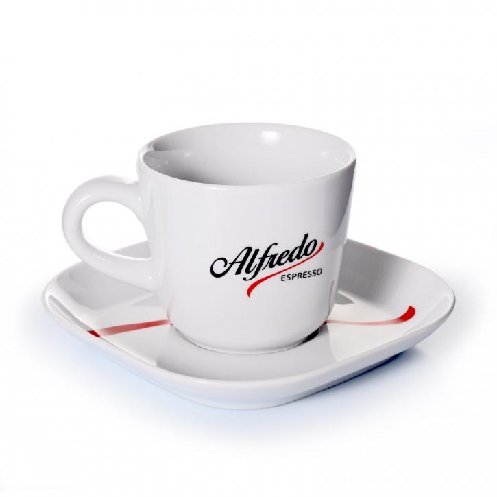 Alfredo Cappuccinotasse mit Untertasse 1 Stk.