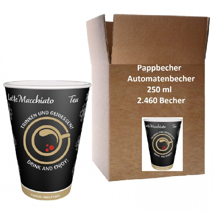 Automatenbecher Papierbecher 0,25l Intercups 2460 Stk.