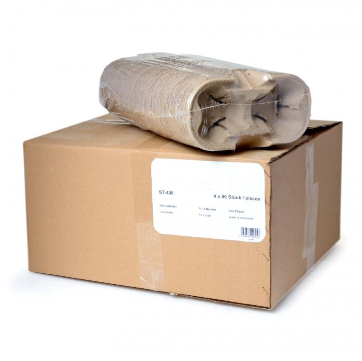 Bechertabletts -Tragetabletts 2er Papierfaser 360 Stück