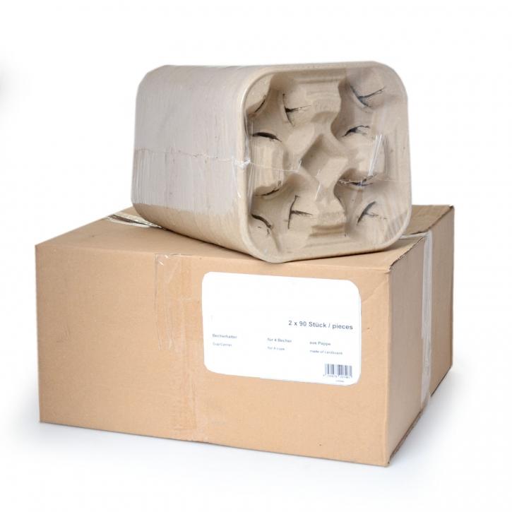 Bechertabletts - Tragetabletts 4er Papierfaser -Click - Carry 180 4er