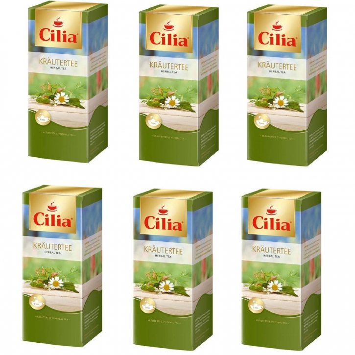 Melitta Cilia Tee Kräutertee 6 Packungen je 25 x 1,8g