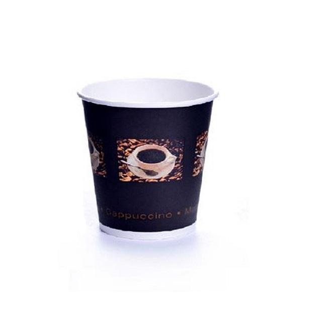 Coffee Beans Espressobecher 100ml Pappe 0,1l Becher 50 Stk.