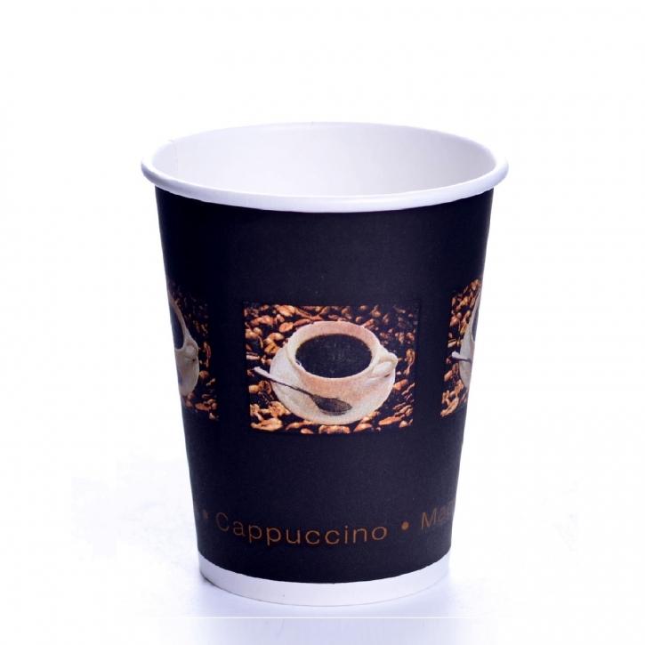 Coffee Beans Pappbecher 0,2l Einwegbecher 24cl Becher 1000 Stk.