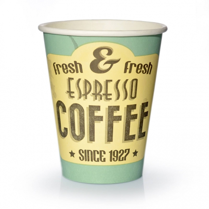 Coffee to go Becher 0,2l Pappbecher Espresso fresh 50 Stk.