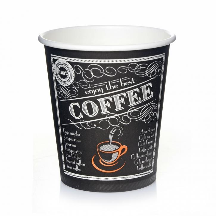 Coffee to go 200ml Kaffeebecher 50 Pappbecher enjoy best coffee 0,2 l