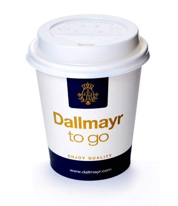 Dallmayr Coffee to go Becher 0,2l mit Deckel weiss 200 Stk.