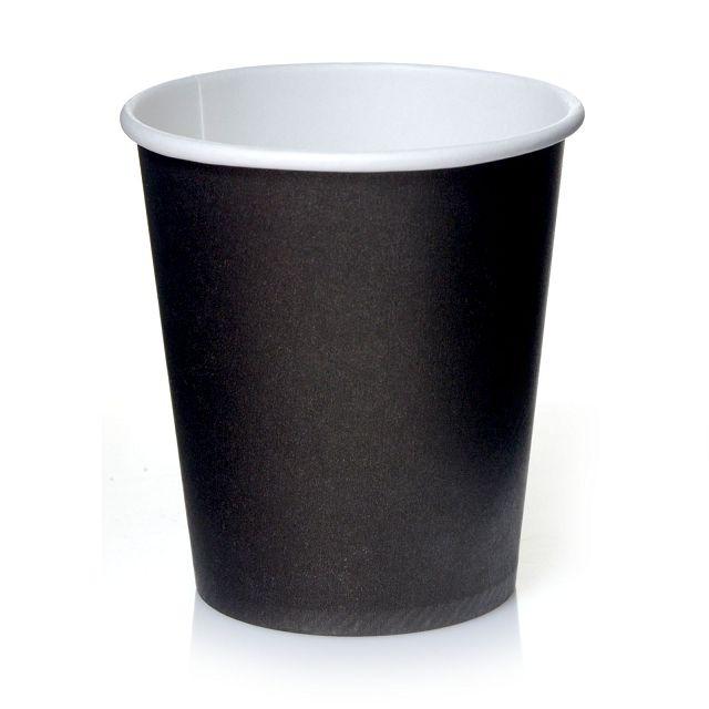 Coffee to go Becher 0,2l Schwarz 24cl Pappbecher 50 Stk.