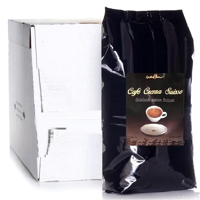 Café Crema Suisse Arabica-Kaffee Gastrosun Schümli 8 x 1Kg ganze Kaffee-Bohne
