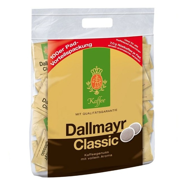 Dallmayr Classic Kaffeepads einzeln verpackt 90 Kaffee-Pads á 7g