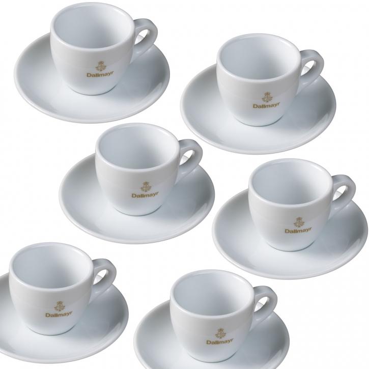 dallmayr espresso tasse inklusive untertasse 6er set. Black Bedroom Furniture Sets. Home Design Ideas