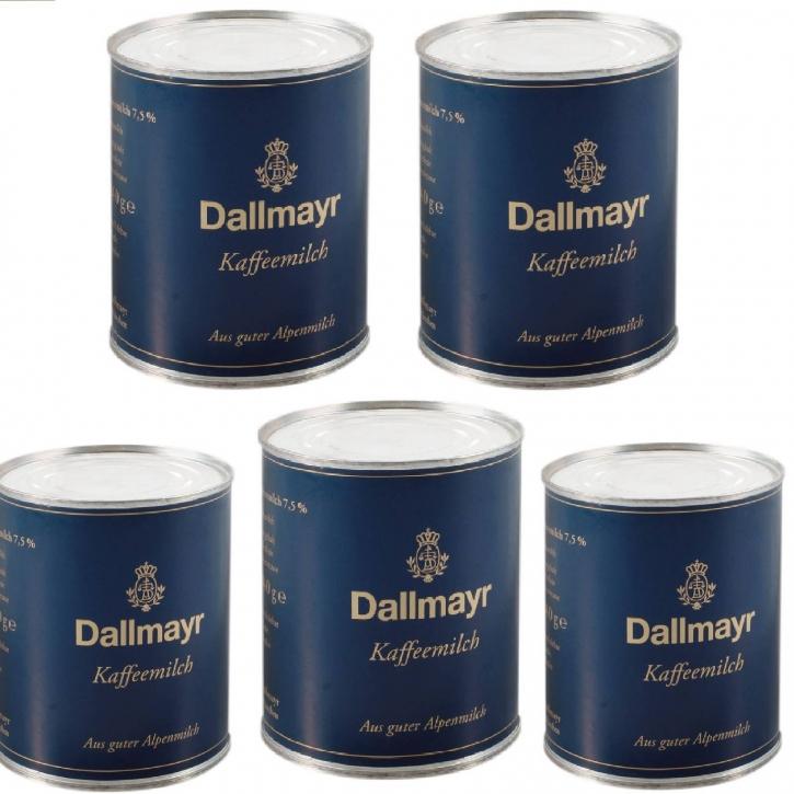 Dallmayr Kaffeemilch 5 Dosen x 340g 7,5% Fett