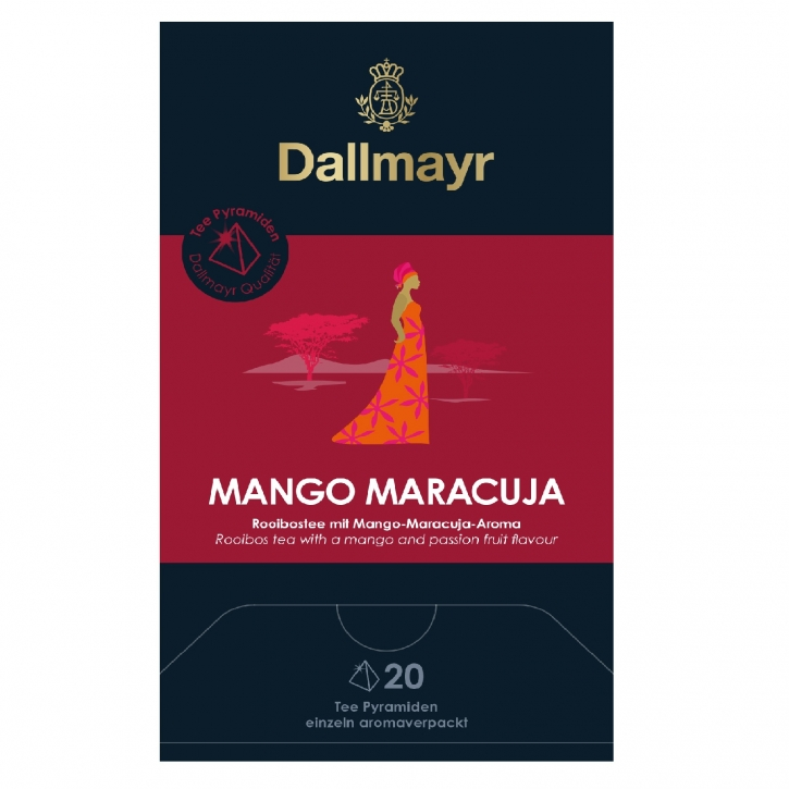 Dallmayr Mango Maracuja Rooibostee 20 Tee Pyramiden x 2,5g