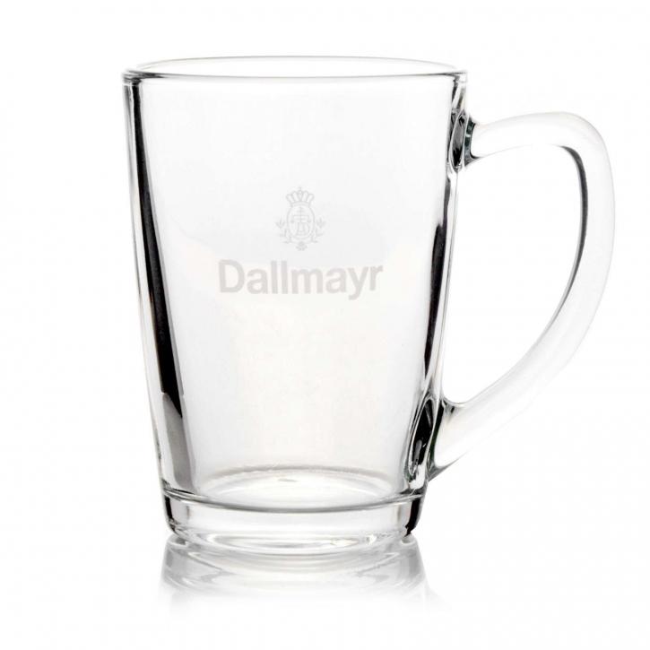 Dallmayr Teeglas mit Logo Inhalt 0,3 l, für Tee Pyramide