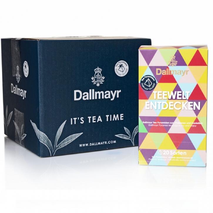 Dallmayr Teewelt Mix 4 x 20 verschiedene Sorten Tee Pyramiden