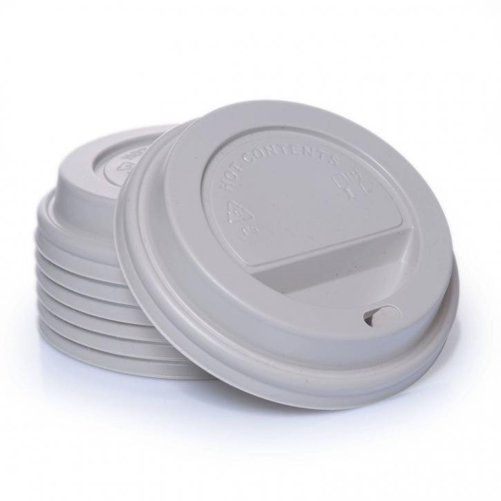 Bio PLA Deckel 100 x 0,3l für Kaffeebecher Ø 90mm kompostierbar