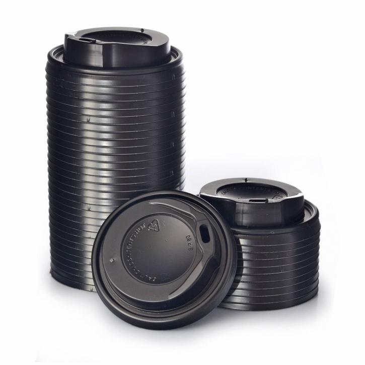 Deckel Coffee to go 0,2l (8oz) schwarz Ø80mm, 1000 Stk.