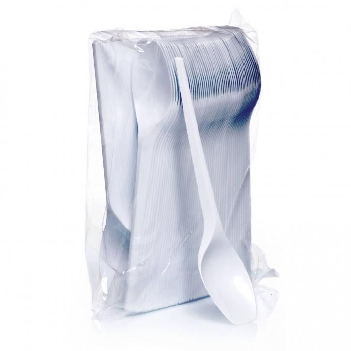 Plastiklöffel 16,5 cm Einwegbesteck weiß 100 Stk.