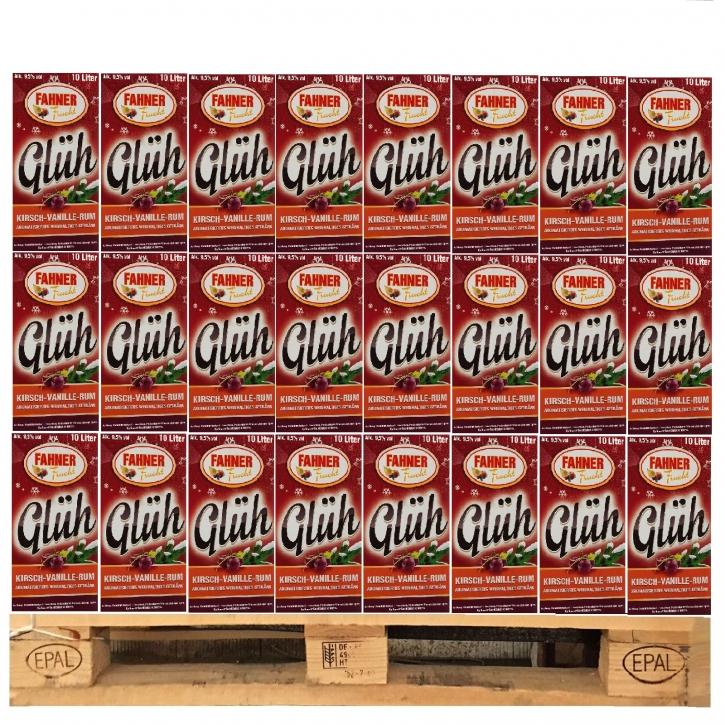 Fahner Kirsch Vanille Rum Glühwein 1 Palette 48 x 10 Ltr. BIB