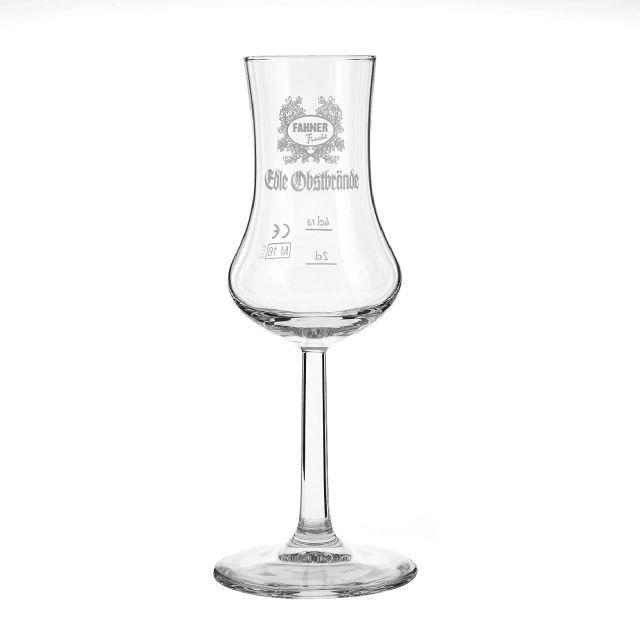 Fahner Obstlerglas Grappa 1 Stiel-Glas Bugatti Kelch 2cl + 4cl