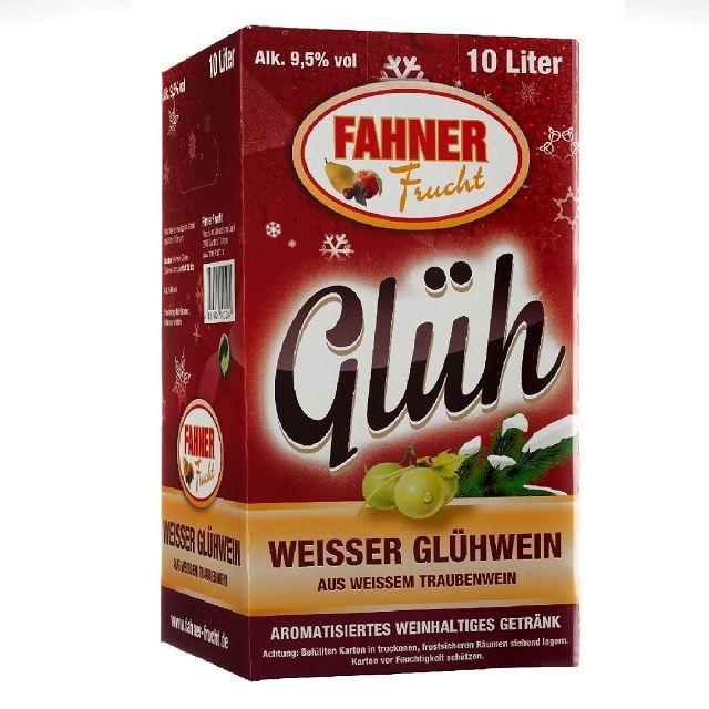 Fahner Weißer Glühwein 10 Ltr. aus Weißwein 10% vol.