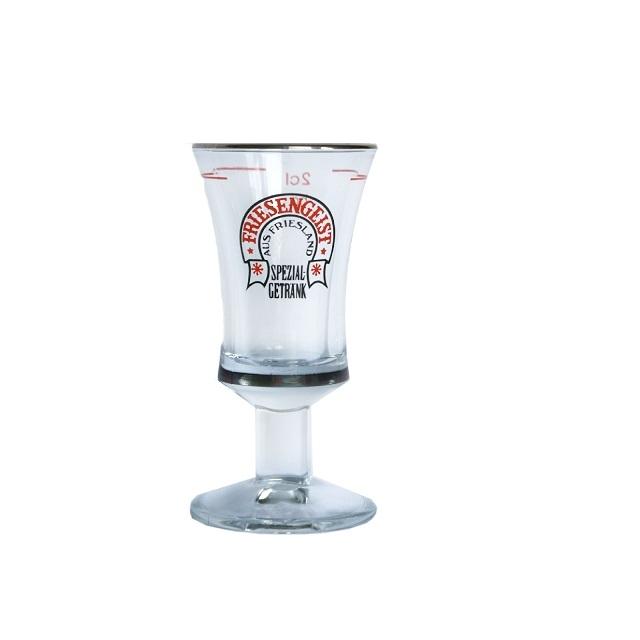 Friesengeist Gläser 2 cl Glas mit Platinrand 1 Schnapsglas