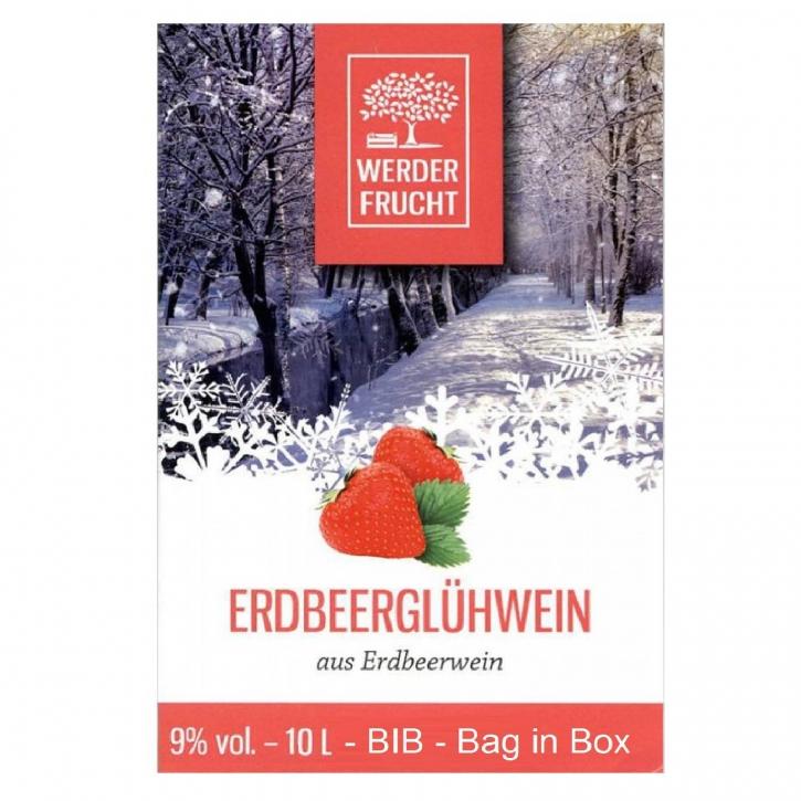 Erdbeerglühwein Glühwein Erdbeerwein 9% vol. 10 L - BIB - Bag in Box