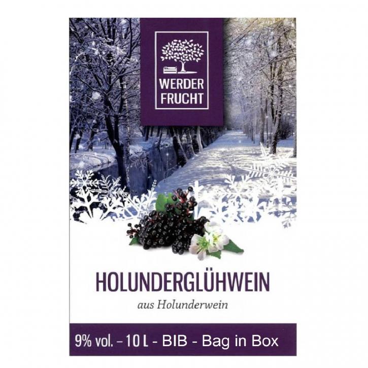 Holunderglühwein Holunderwein Rot 9% vol. 10 L - BIB - Bag in Box