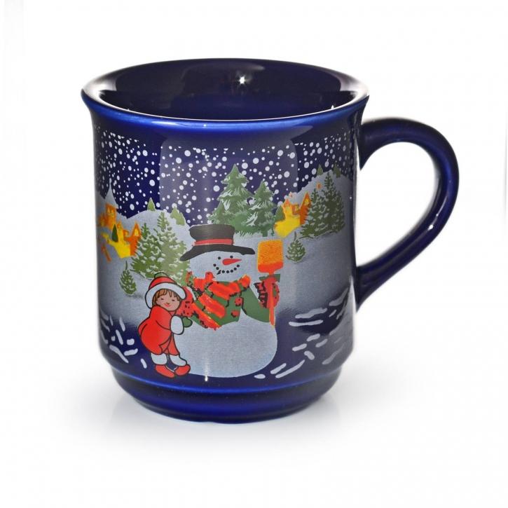 Glühweinbecher Glühweintassen 200ml - 1 Tasse Blau 0,2 l, ohne Eichstrich