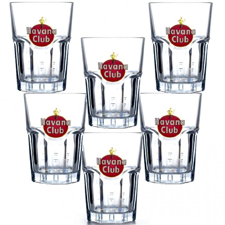 Rastal Rum Gläser Havana Club 6 Mojito Longdrink Glas 34 cl