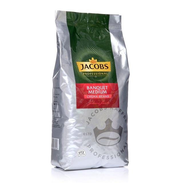 Jacobs Professional Cafe Creme Bankett Medium UTZ 8 x 1kg ganze Bohne