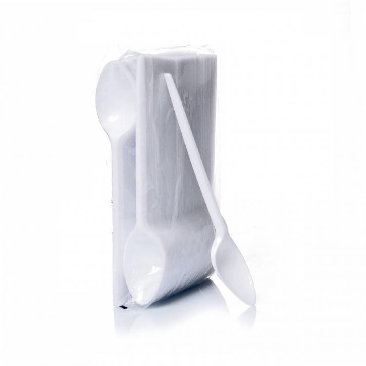 Kaffeelöffel Plastik weiß 11 cm Einwegbesteck 100 Stk.