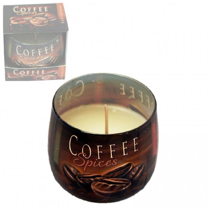 Duftkerze im Glas Coffee Spices Windlicht