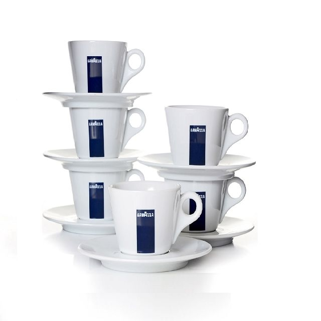 6 Lavazza Espressotassen mit Untertasse BLU Collection