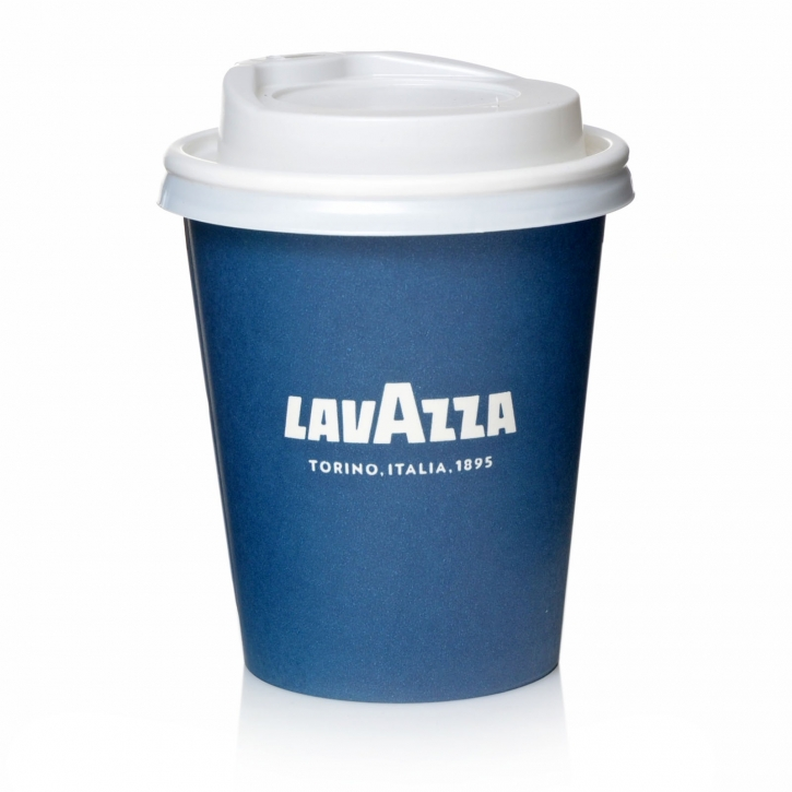 Lavazza to go Papp-Becher 270cc Kaffeebecher mit Deckel weiß 50 Stk