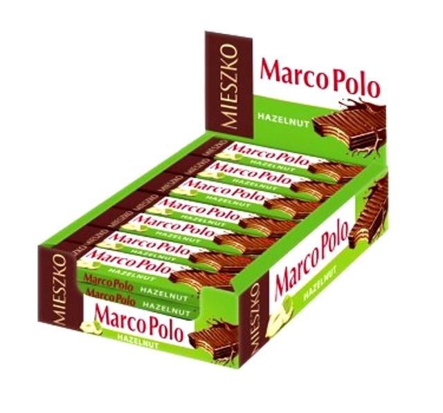 Marco Polo Waffeln Riegel Haselnuss im Display 25 Riegel x 34g