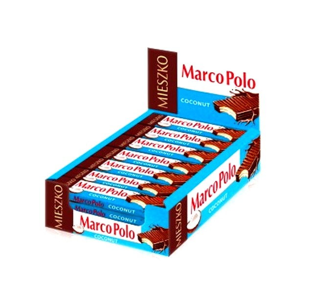 Marco Polo Waffeln Riegel Kokosnuss im Display 25 Riegel x 34g