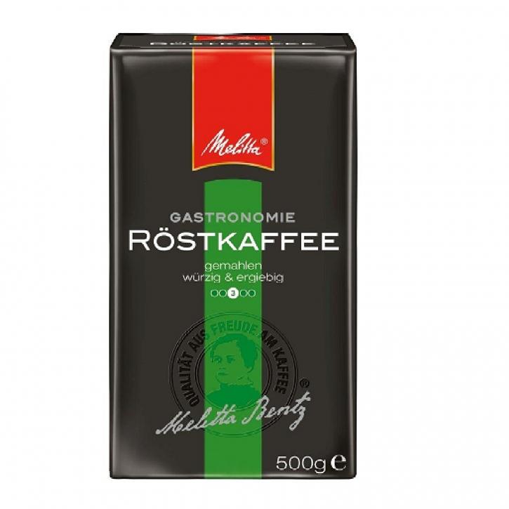 Melitta Röstkaffee Gastronomie 100% Robusta - Kaffee gemahlen 12 x 500g