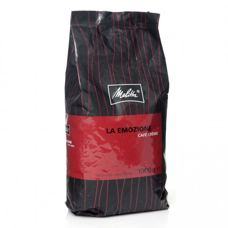 Melitta La Emozione Café Créme 100% Arabica-Kaffee 1000g ganze Bohne
