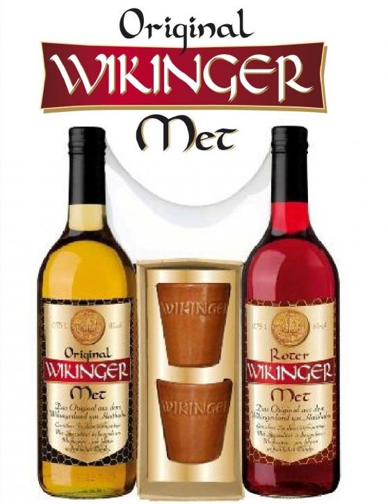 Doppelter Wikinger Met Präsent 1,5l Honigwein + 2 Becher