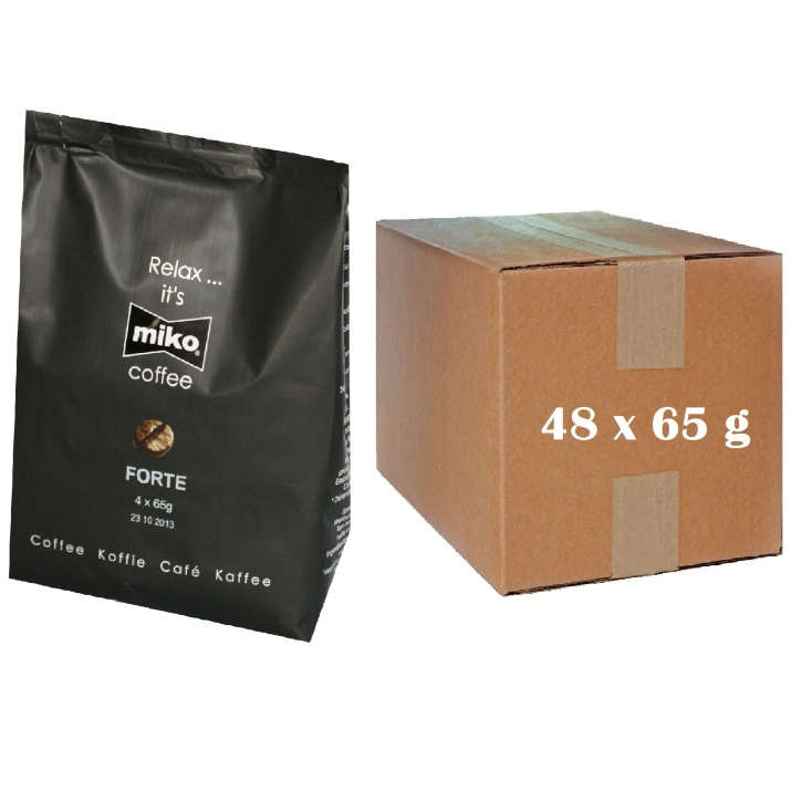 Miko Kaffee Forte 48 x 65g Pouch Ganze Kanne