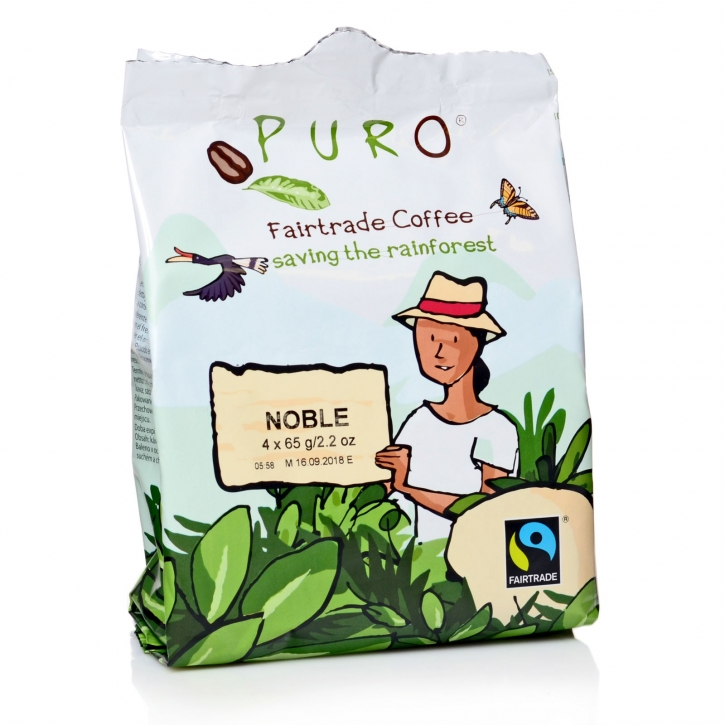 Miko Puro Noble Coffee Fairtrade Pouch - Bag 48 x 65g