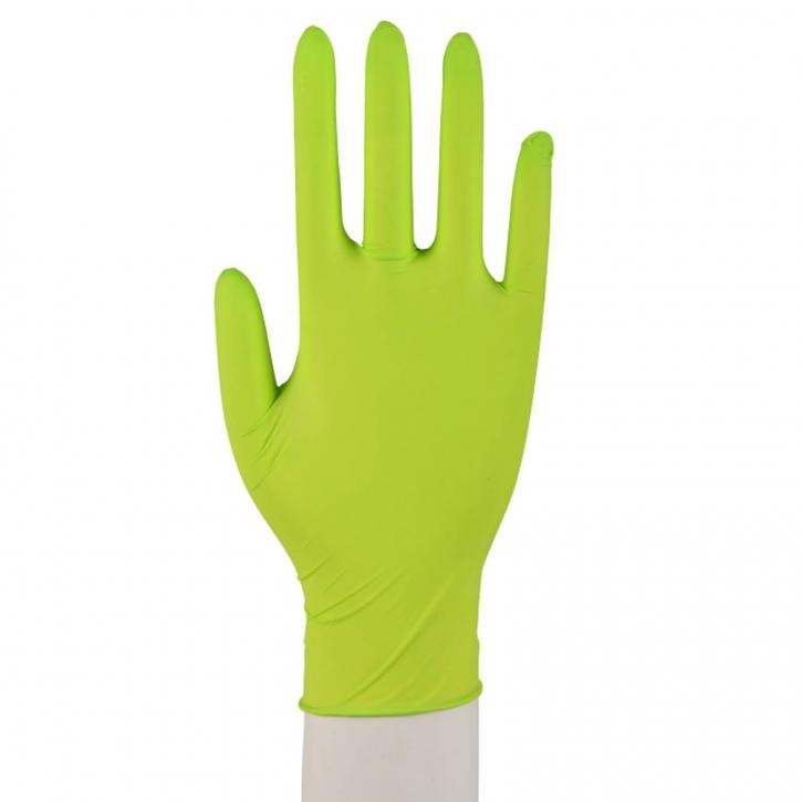 100 Nitril Handschuhe Puderfrei Einweg Größe XL 9-10 Grün