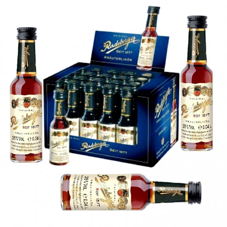 Radeberger Kräuterlikör 24 x 0,02l Miniaturflaschen 35 % Vol