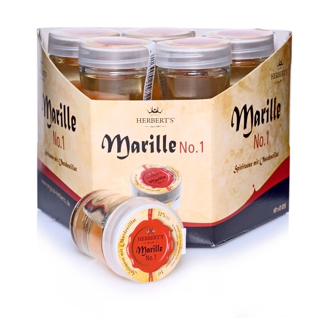 Original Herbert's Marille No.1, 10 x 0,02 l, 32 % Vol. Alc