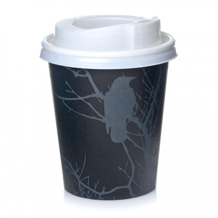 Coffee to go Pappbecher 0,2 l Amore 200 Stk mit weißen Deckel, 200ml