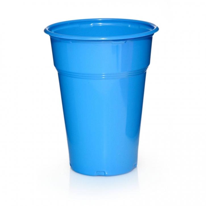 1000 Plastikbecher Trinkbecher Ausschankbecher 300ml in Blau