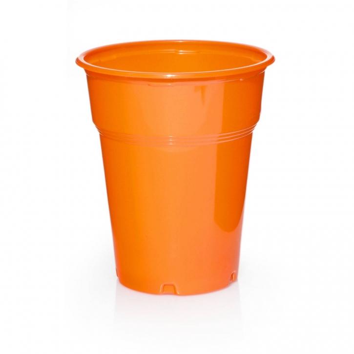 100 Plastikbecher Trinkbecher Ausschankbecher 0,3l Orange
