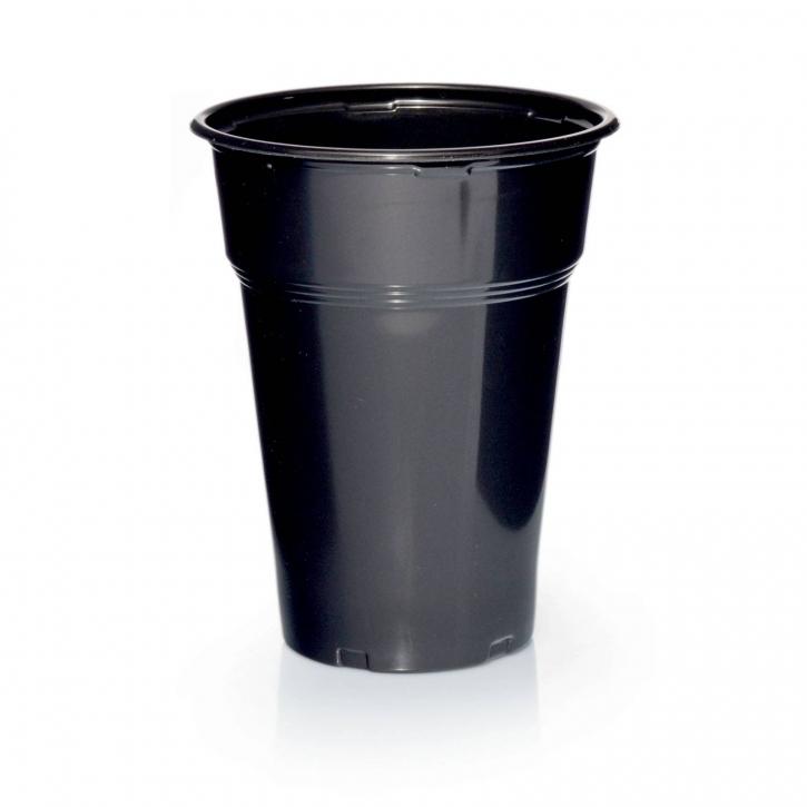 100 Plastikbecher Trinkbecher Ausschankbecher 0,3l Schwarz