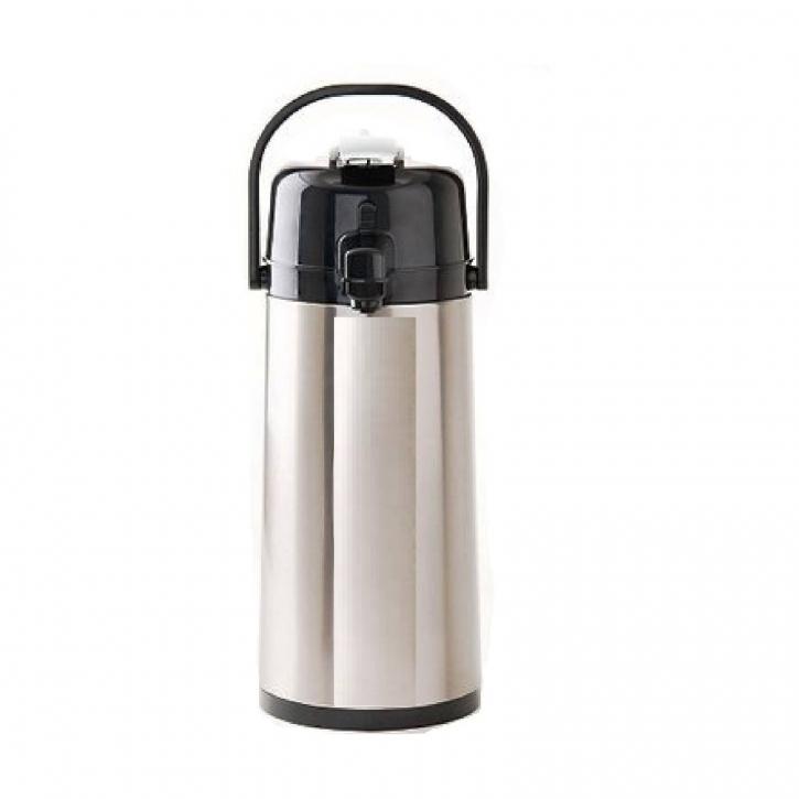 Pumpthermoskanne 2,2l Coffee Queen mit Edelstahleinsatz